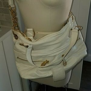 Michael kors white leather crossbody